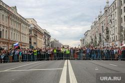 Несанкционированный митинг на Тверской улице. Москва, тверская, митинг, полицейское оцепление, правопорядок, горожане, день россии