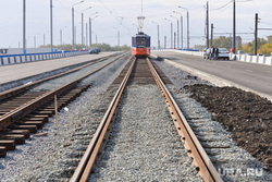 Открытие дорожной развязки. Уралмостострой. Челябинск, рельсы, трамвайные пути