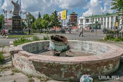 Реконструкция привокзальной площади в городе. Курган, привокзальная площадь, разрушенный фонтан