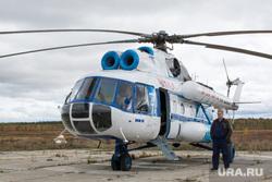 Ханымей-Муравленко, 4 сентября,рабочая поездка Кобылкина, вертолет, ми-8
