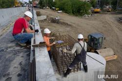 Визит Евгения Куйвашева в Нижний Тагил, строительство моста, рабочие