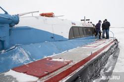 Обследование ледовой переправы Салехард -Лабытнанги и вездеходов на воздушных подушках. Салехард