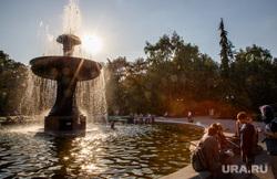 Жизнь Екатеринбурга в жару, фонтан, лето, жара, солнце, отдых горожан, дендропарк