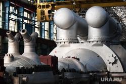 Церемония передачи для московской ТЭЦ самой крупной в мире теплофикационной турбины. Екатеринбург, турбинный завод, турбина т-295