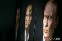 Трамп-пати в баре Union Jack. Москва, портрет путина, портрет трамп дональд