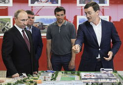 Путин в Дацюк-арене. Необр. Екатринбург
