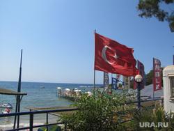 Турция, море, флаг турции