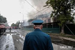 Пожар в доме - памятнике истории регионального значения, известном как Дом Жернакова. Тюмень, мчс, пожар