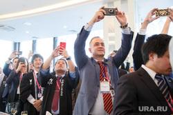 ИННОПРОМ-2017. Ответный прием японской стороны в ресторане Вертикаль в «Высоцком». Екатеринбург, фото на телефон, гаджеты