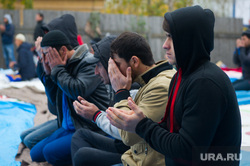 Курбан байрам в мечети Рамазан на ул. Репина, 42. Екатеринбург, молитва, ислам, намаз, ритуал, мусульмане, исламисты