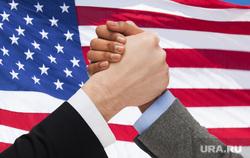 Клипарт depositphotos.com, рукопожатие, флаг сша