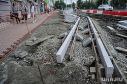 Виды Екатеринбурга, тротуар, дорожное строительство, велодорожка, пешеходная зона, ремонт, проспект ленина