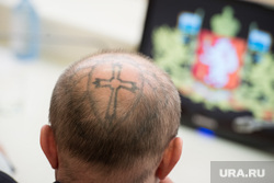 Встреча губернатора с победителями выборов в гордуму Режа. Екатеринбург, татуировка, наколка, паук, тату, сурнин евгений, паук на голове