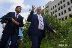 Рабочий визит Евгения Куйвашева в город Артёмовский, куйвашев евгений, самочернов андрей, недостроенная больница