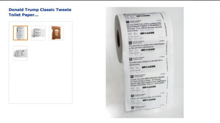 Amazon открыл продажи туалетной бумаги с твитами Трампа