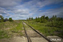 Поездка Дениса Паслера в Верхотурье., железная дорога, горизонт, пути