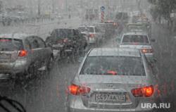 Клипарт. Челябинск, пробка, ливень, дождь, осень, дорога, капли на стекле