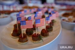 День независимости США в Хаятте. Екатеринбург, закуски, канапе, американский флаг, сша