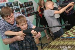 Экскурсия на Курганскую ТЭЦ, мишень, оружие, стрельба, винтовка, мальчик