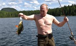 Отпуск Владимира Путина в Тыве, удочка, рыба, путин владимир, отпуск, река, рыбалка