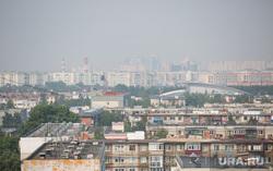 Дым от лесных пожаров. Сургут, дым на городом