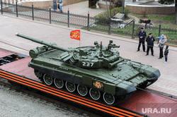 Прибытие «Агитационного поезда» Армия Победы - 2017» на вокзал. Челябинск, перрон, оружие, война, танк
