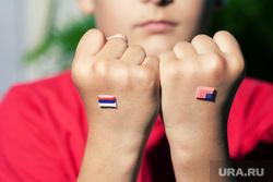 Клипарт depositphotos.com, кулаки, флаги россия и сша, противостояние россия сша