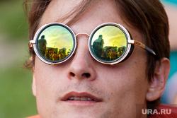 Рок-фестиваль Урал Фест 2016. Ural Fest на озере Балтым. Екатеринбург, круглые очки, зеркальные, солнечные