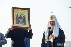 Визит Патриарха Кирилла  в село Батурино. Курганская область, икона, православие, патриарх