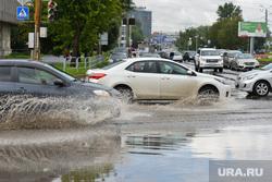Последствия ливня в Челябинске, транспорт, вода, дождь, ливень, потоп