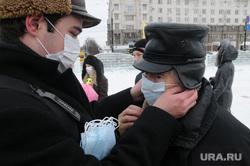 Клипарт. ОРВИ. Грипп. Маски. Челябинск., медицинские маски, грипп, орви, повязки