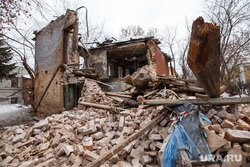 Разрушенный дом на Чапаева. Екатеринбург