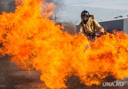 Учения пожарных. Тюмень, пожар, пламя, огонь