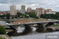 Виды Екатеринбурга, трамвай, городской пруд, макаровский мост, екатеринбург