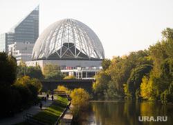 Осенний Екатеринбург, цирк, набережная, река исеть, осень, бц саммит, город екатеринбург