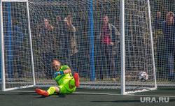 Рабочий визит Виктора Зубкова в село Мартыновка Курганской области, гол, мяч в воротах