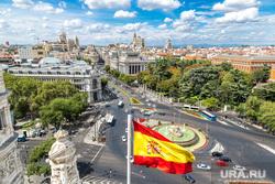 Клипарт depositphotos.com, испания, флаг испании, мадрид, фонтан сибелес