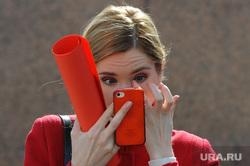 Девушки весенние. Челябинск., смартфон, девушка, айфон