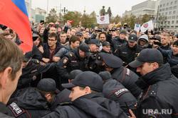 Разгон несанкционированной акции протеста сторонников Алексея Навального на Площади Труда. Екатеринбург, акция протеста, площадь труда, митинг, полиция, екатеринбург, несанкционированная акция, разгон акции