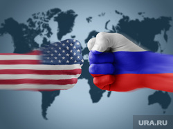 автосалон, противостояние россия и сша, агрессия, злость, ругань, бунт, флаги россия и сша, противостояние россия сша