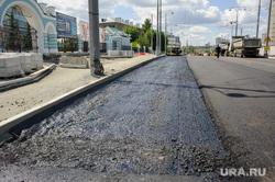 Виды Екатеринбурга, дорожное строительство, ремонт дороги, улица репина