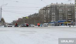Последствия снежного шторма в Челябинске
