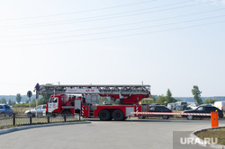 Рефтинская ГРЭС: адресники, место аварии, пожарная машина, шлагбаум, рефтинская грэс