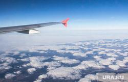 Клипарт. Уфа, Москва, облака, полет, аэрофлот