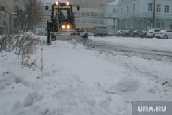 Город в снегу. Курган, уборка снега, снегопад, ветер, пурга