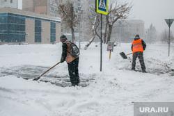 Город в снегу. Курган, уборка снега, снегопад, ветер, пурга, астра