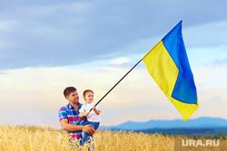 Флаг Украины, борьба, кулак, прослушка , флаг украины, ребенок на руках