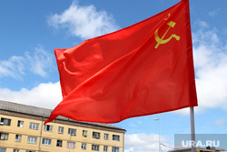 Конференция КПРФ Курган, флаг красный, кпрф