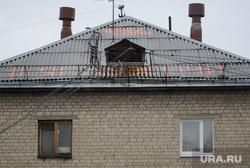 Надпись ФК Урал на крыше пятиэтажки у Калины. Екатеринбург, крыша, жилой дом, кровля