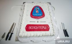 Виды Екатеринбурга, торт, футбол, волонтеры, russia2018, чм-2018, fifa world cup, чемпионат мира по футболу, fifa2018, торжественное событие, мундиаль